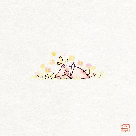 ブタさんの春